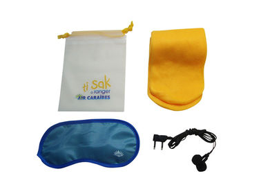 China Disposable Lightweight Airline Amenity Kits With PVC Drawstring Bag supplier