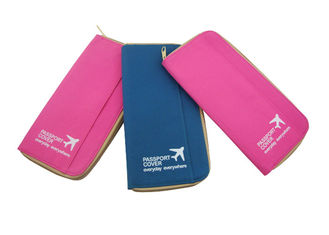 China Economic Practical Travel Accessory Bag For Trip Pink Passport Cover supplier