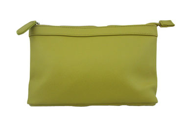China Eco-friendly Yellow Travel Accessory Bag Firm PU Material Cosmetic Bag supplier