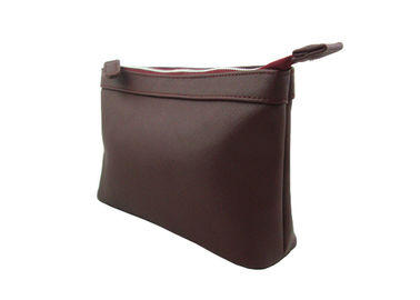 China Fashion Dark Red Travel Accessory Bag Zipper Pouch For Travel / Outdoor supplier