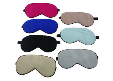 China Personalized Silk Mens Sleep Eye Shade 20.5*10CM Size With Various Colors supplier