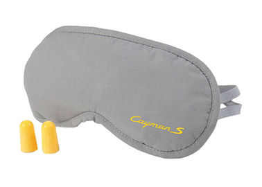 China Disposable Common Sleeping Blindfold Eyemask Gray TC Fabric With Earplugs For Tour supplier