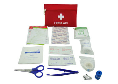 China 13 Contents First Aid Emergency Kit , First Aid Travel Kit With Oxford Fabric Pouch supplier