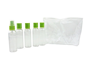 China Save Space Durable Airplane Travel Kits , Convenient Cosmetic Travel Bottles supplier