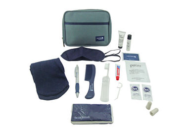 China Mens Travel Airline Amenity Kits With Big Diagonal Oxford Fabric Bag supplier