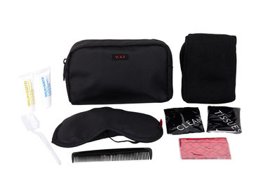 China Practical Airline Amenity Kits Oxford Fabric Material Small Travel Kit Black Color supplier