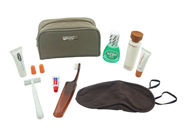 China Advanced Flight Trip First Class Amenity Kits / Luxury Travel Kit With 8 Items supplier