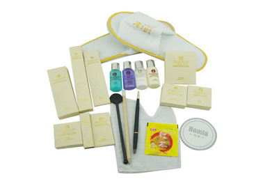 China 20 Contents Hotel Amenity Kits With Coral Fleece Slippers / Plastic Toothbrush  supplier