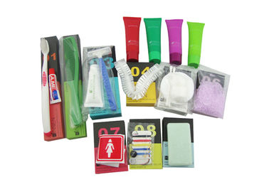 Easy Carry Luxury Hotel Bathroom Amenities With Colorful Paper Box Packing