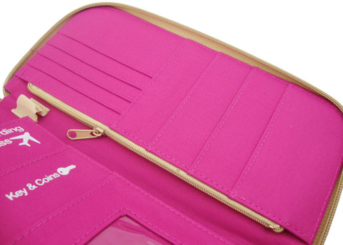 Economic Practical Travel Accessory Bag For Trip Pink Passport Cover