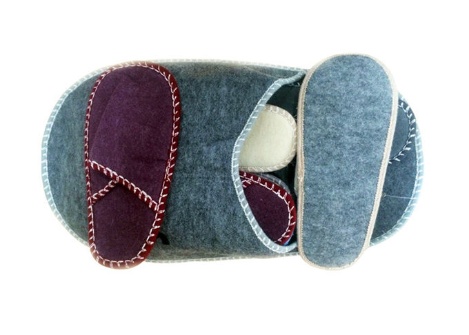 Winter Warm Disposable Hotel Slippers Felt / Velvet Living Room Hospitality Slippers